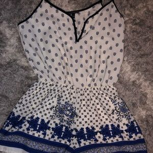 Other - SALE Blue and white romper